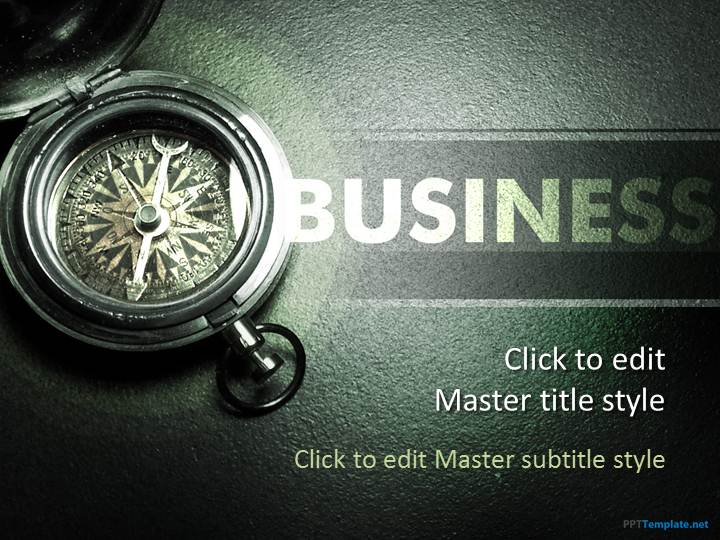 free compass ppt template