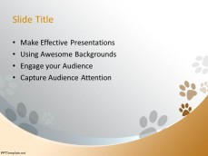 free dog ppt template, Powerpoint