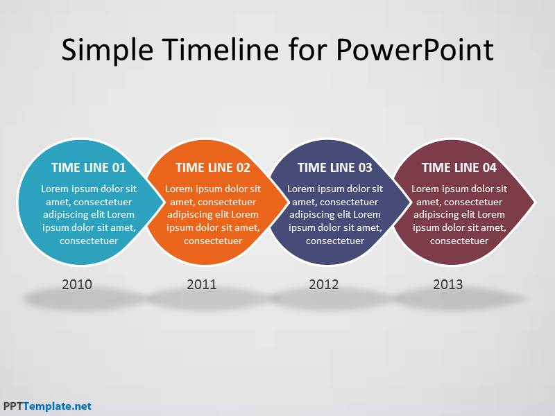 Free timeline ppt template for Ms powerpoint timeline template