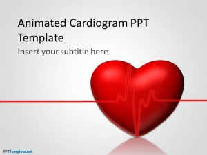 animated cardiogram ppt template