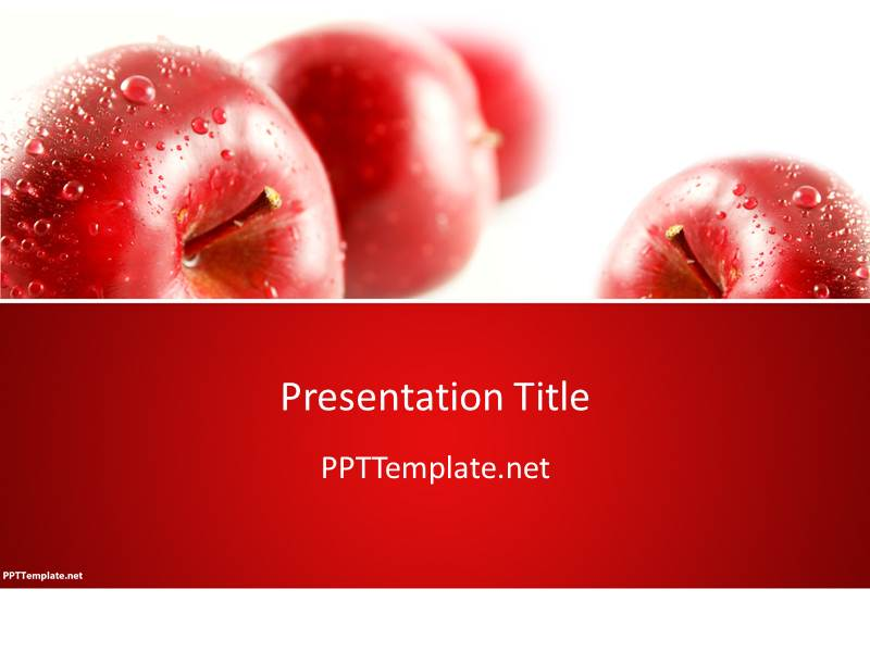 free apple ppt template, Powerpoint