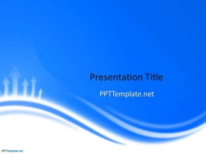 Free Blue Curves PPT Template