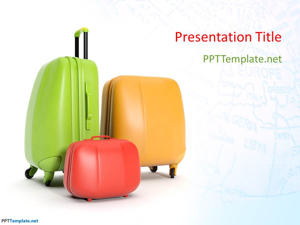 free travel bags ppt template, Templates