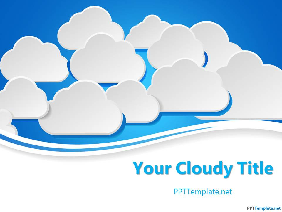 free clouds ppt template, Powerpoint