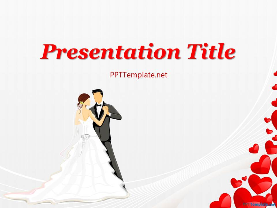 free wedding dance ppt template, Powerpoint