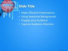 Marketing Social Media PPT Template Background