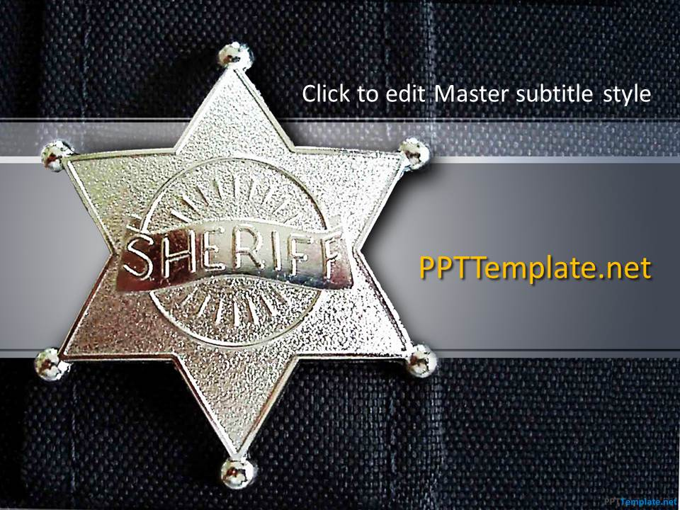 free police ppt templates  ppt template, Powerpoint