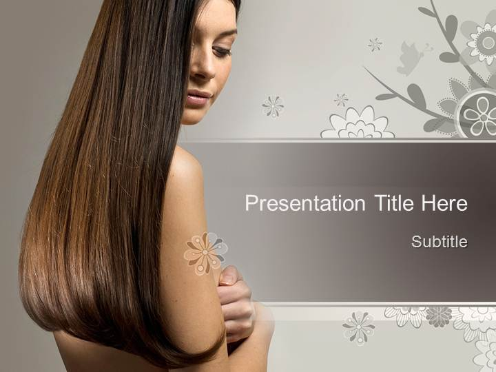 Free Beauty Hair Ppt Template