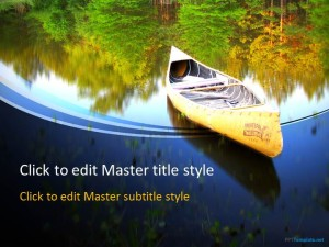 Free Boat Canoe PPT Template