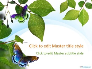 Free Nature Leaves PPT Template