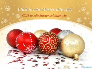 Free Christmas Balls PPT Template