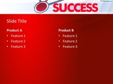 Awesome Success Internal Slide Design with Red Background