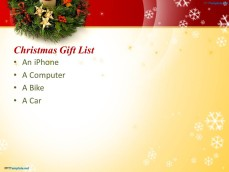 Christmas Gift List PowerPoint Template