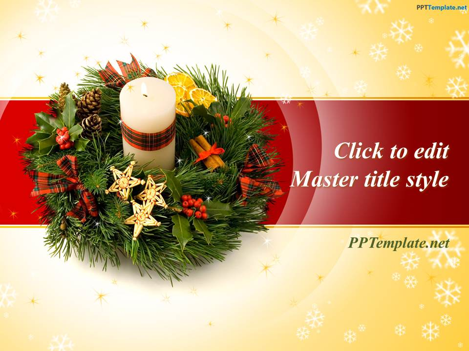 Free Christmas Wreath Ppt Template