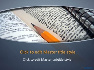 Free Book Education PPT Template