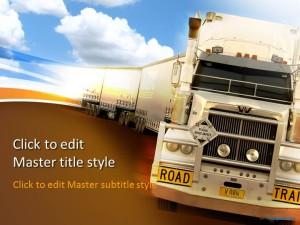 Free Transportation Truck PPT Template