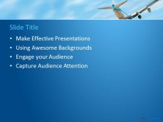 free aviation ppt template