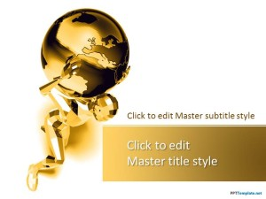 Free Gold Global PPT Template