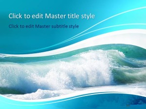 Free Sea Waves PPT Template