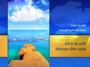 Free Water Beach PPT Template