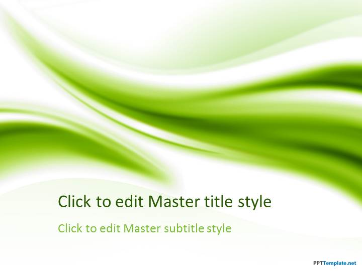 free green ppt template, Powerpoint