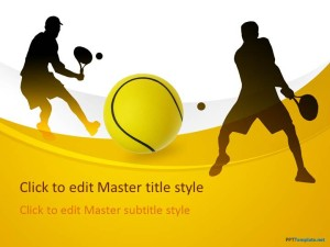 Free Tennis PPT Template