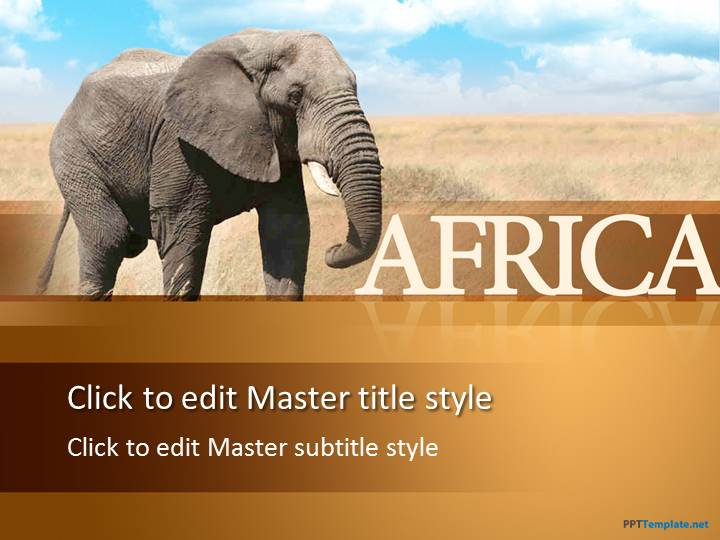 free african elephant ppt template, Templates