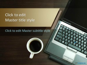 Free Notebook Coffee PPT Template