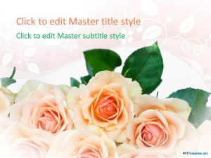 Free Roses PPT Template