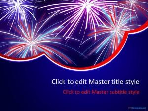 Fireworks templates free nye fireworks celebrations flyer firework ppt template toneelgroepblik Choice Image