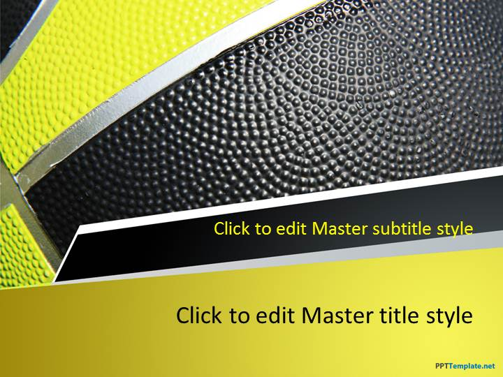 Free Basketball Play PPT Template – Basketball Powerpoint Template