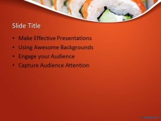 Free Sushi Ppt Template
