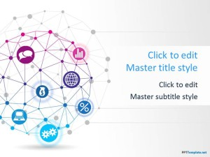 Free Global Network PPT Template
