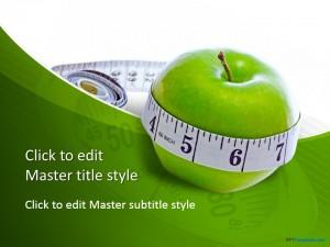 Free Diet Measure Apple PPT Template