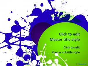 Free Splash Colors PPT Template
