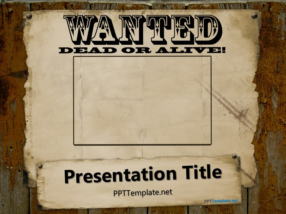 Free Wanted PowerPoint Template