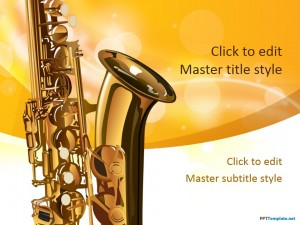 Free Saxophone PPT Template