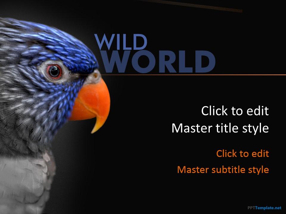 free animal ppt templates  wildlife powerpoint slide designs, Powerpoint