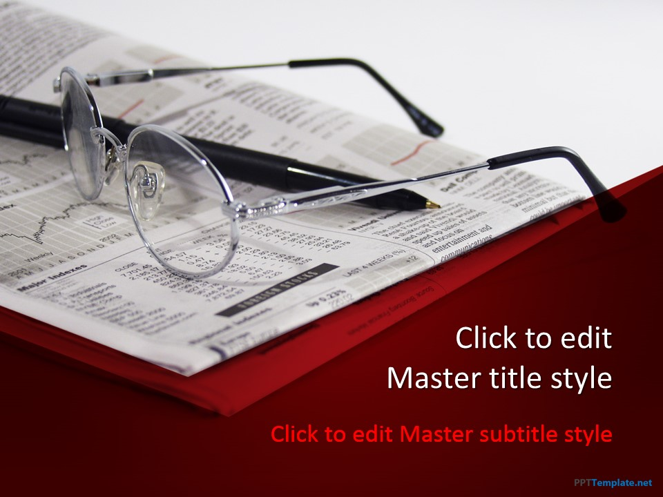 free financial news ppt template, Powerpoint