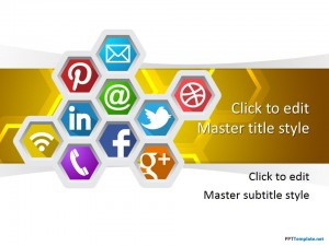 Free Social Honeycomb PPT Template