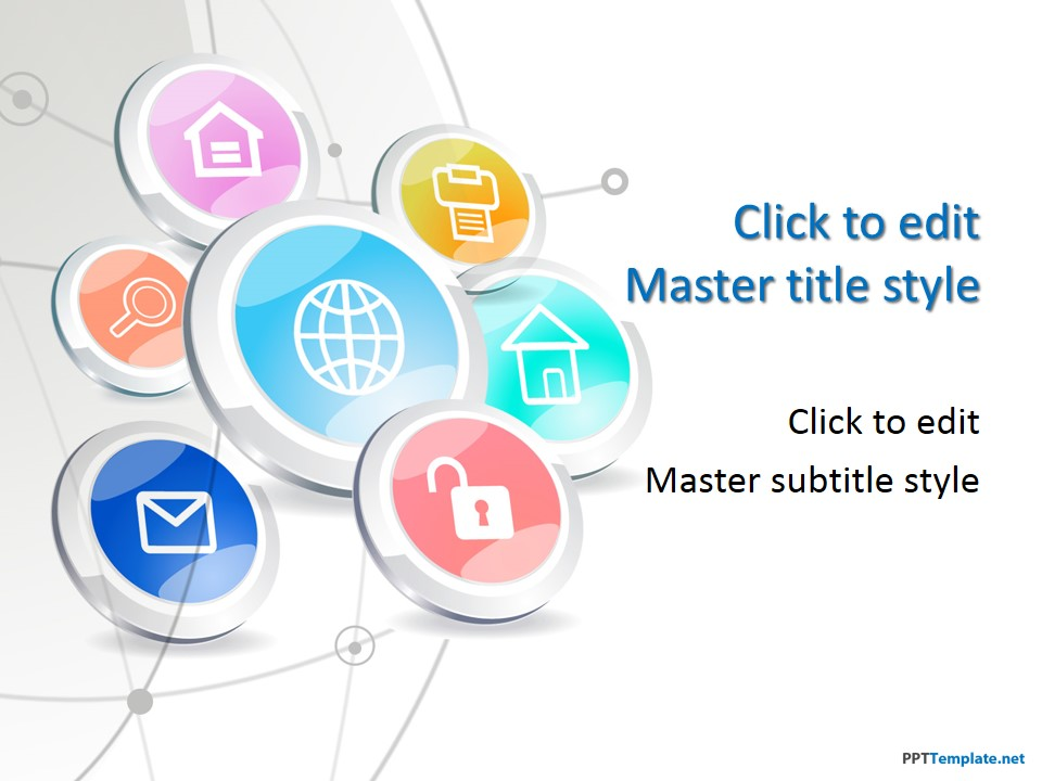 Technology templates free it computer powerpoint slide designs 10864 tech buttons ppt template 0001 1 toneelgroepblik Images