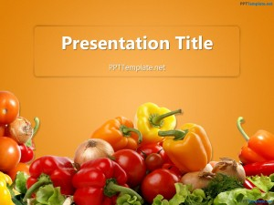 Free Various Vegetables PPT Template