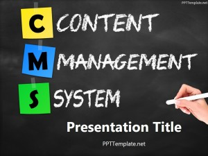 Free CMS Chalkhand Black PPT Template