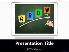 20387-ipad-grow-chalkhand-white-ppt-template-1