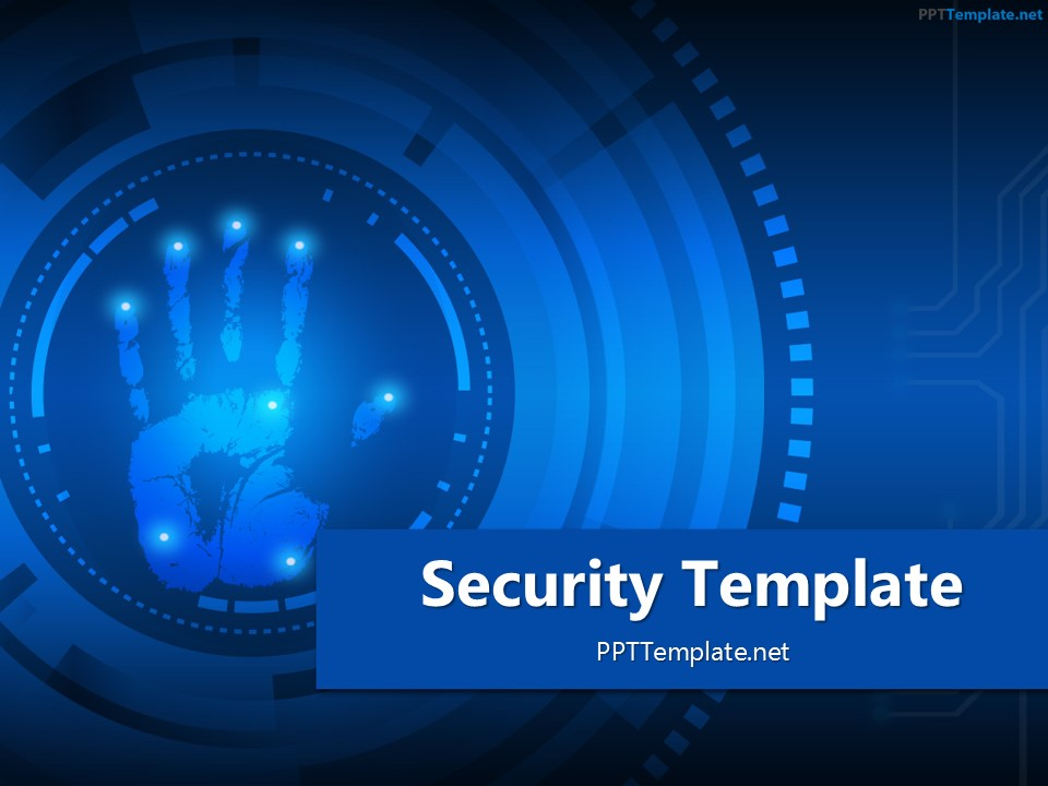 free finger print circle  ppt template, Powerpoint