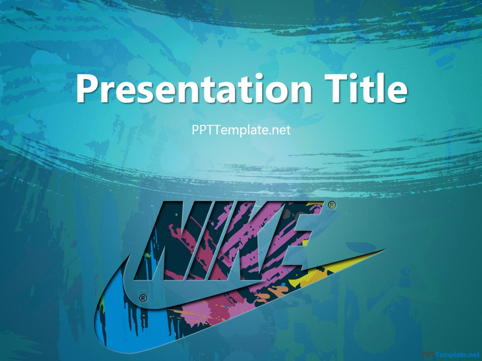 free nike with logo ppt template, Powerpoint