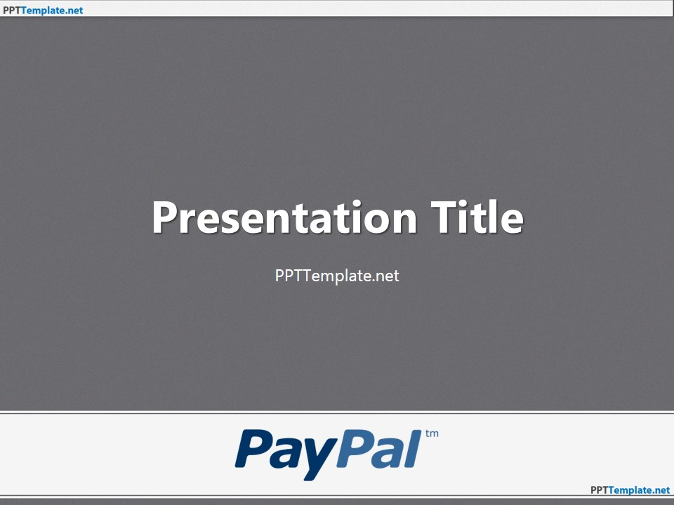 Free PayPal PPT Templates - PPT Template