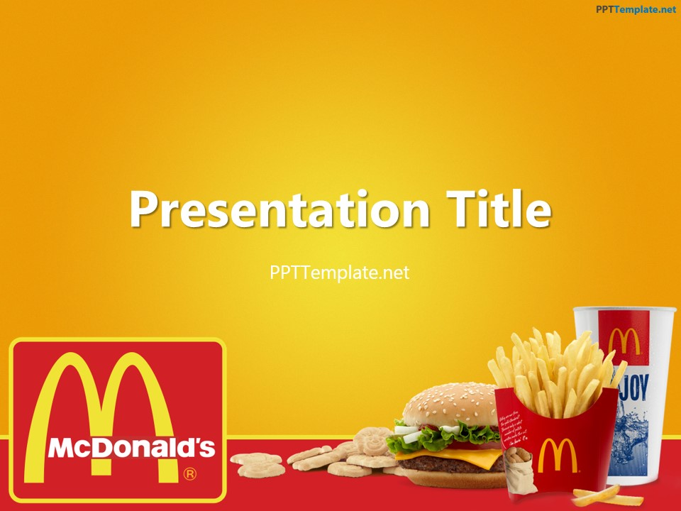 free mcdonald's with logo ppt template, Powerpoint